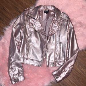 Beautiful Pink Shimmer Motorcycle Jacket